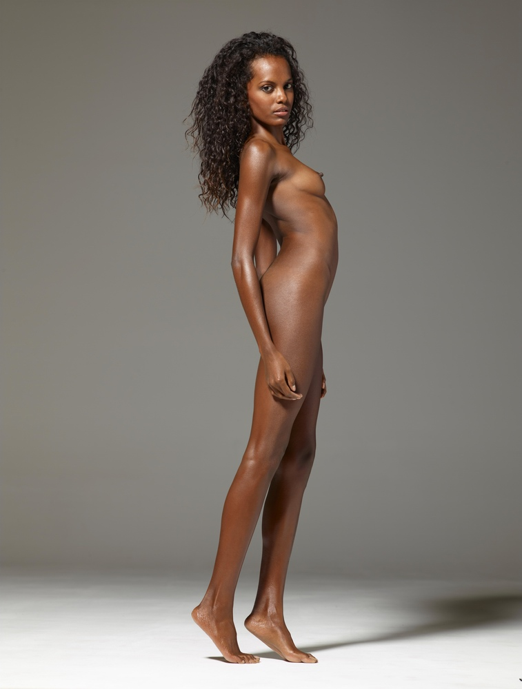 Maybe, lil black nude model